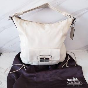 Coach Kristen Hobo Crossbody Bag Purse Beige Cream